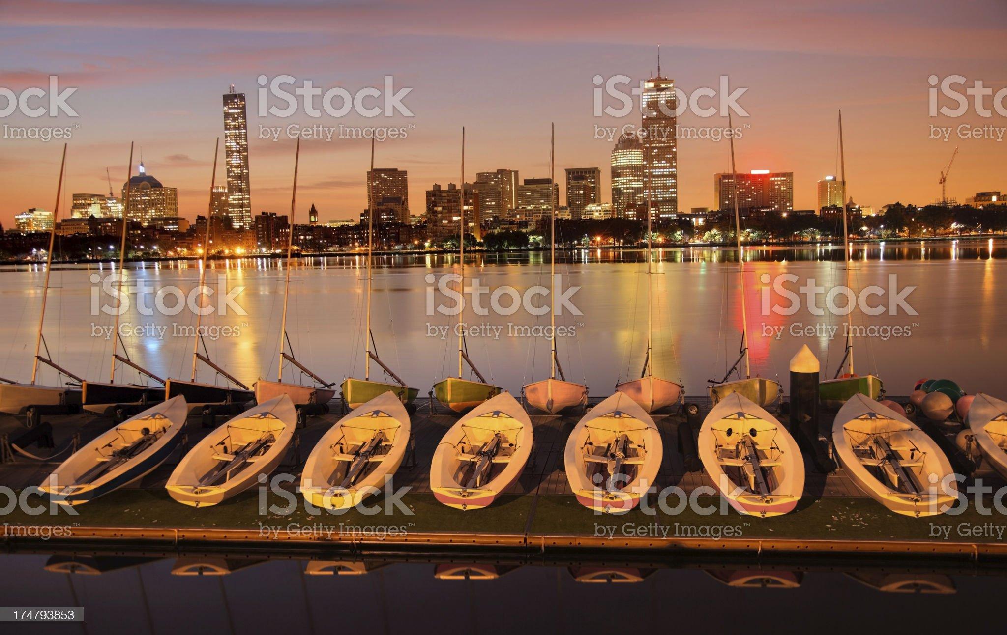 Back Bay, Boston royalty-free stock photo