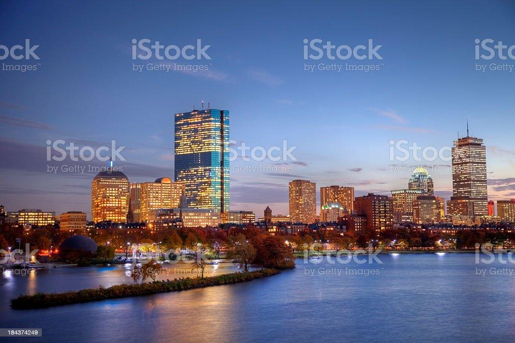 Back Bay  Boston royalty-free stock photo
