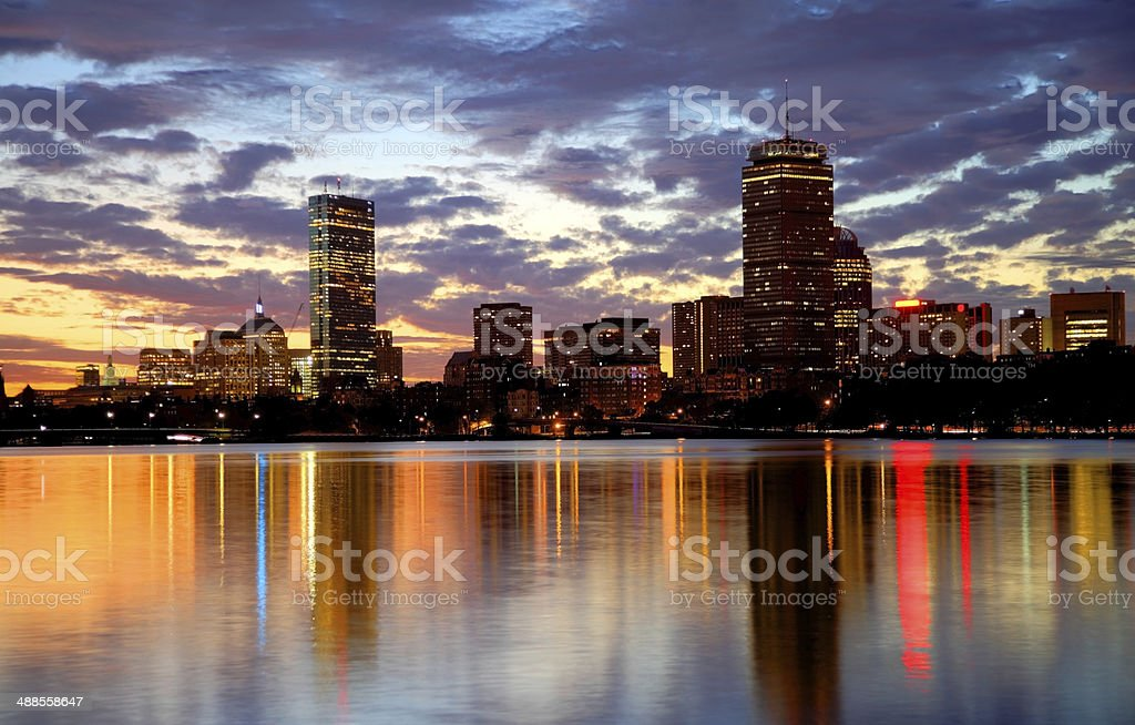 Back Bay, Boston stock photo