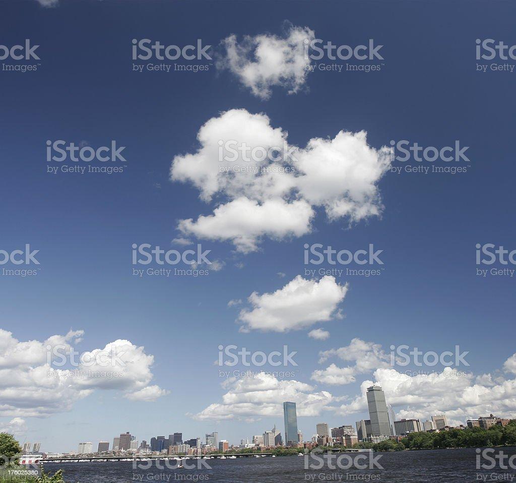 Back Bay in Boston Panorama royalty-free stock photo