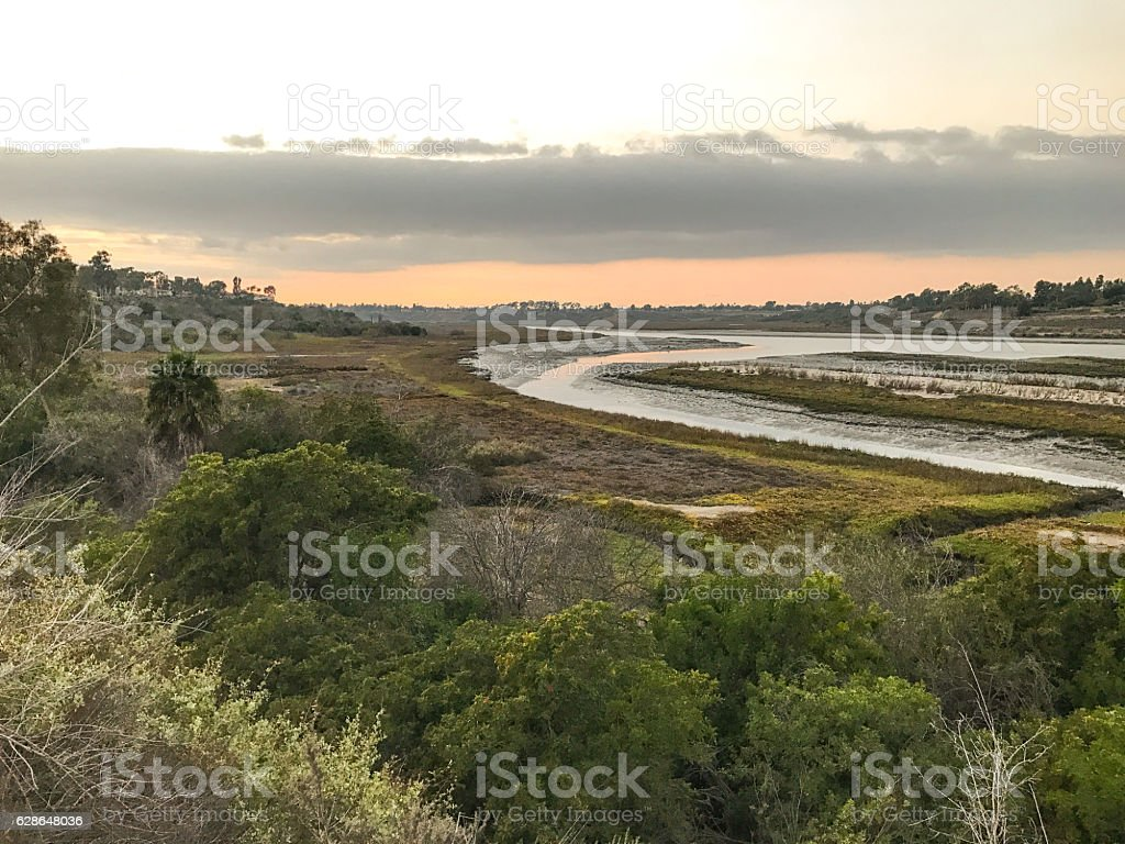 Back Bay, Newport Beach stock photo