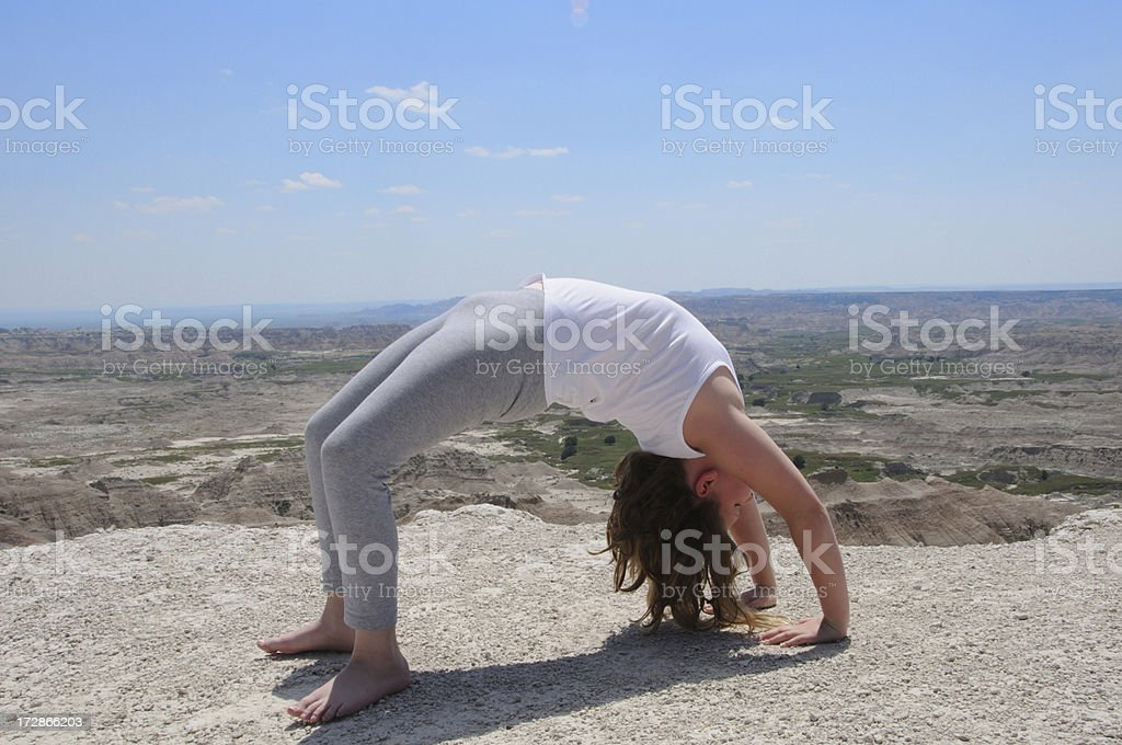 Back bend royalty-free stock photo