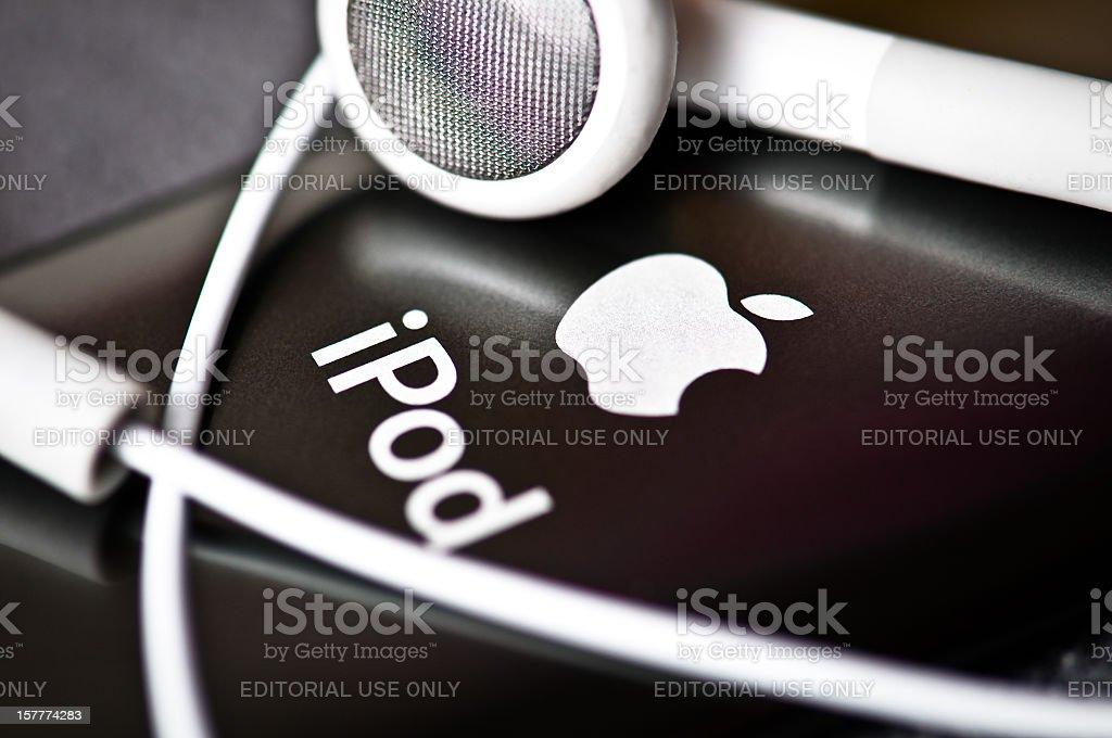 Back case of Apple iPod Nano royalty-free stock photo