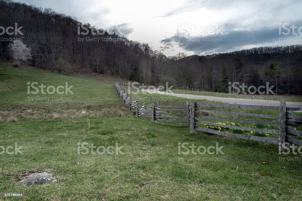 Back country in Virginia stock photo