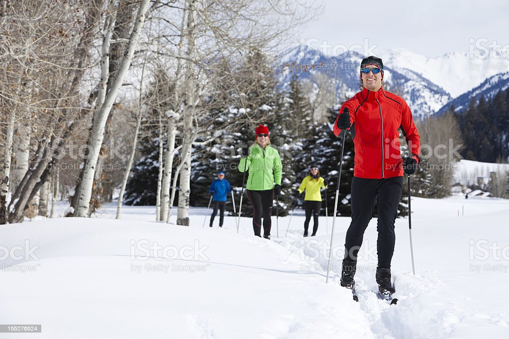 Back Country Nordic Skiing stock photo