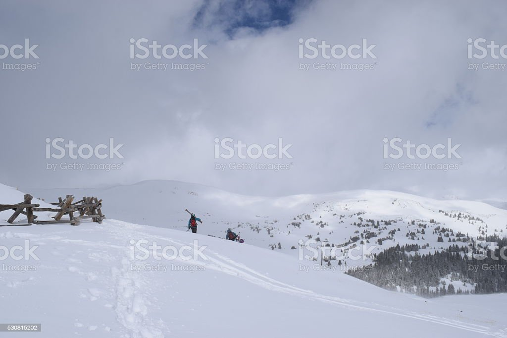 Back Country Skiers stock photo