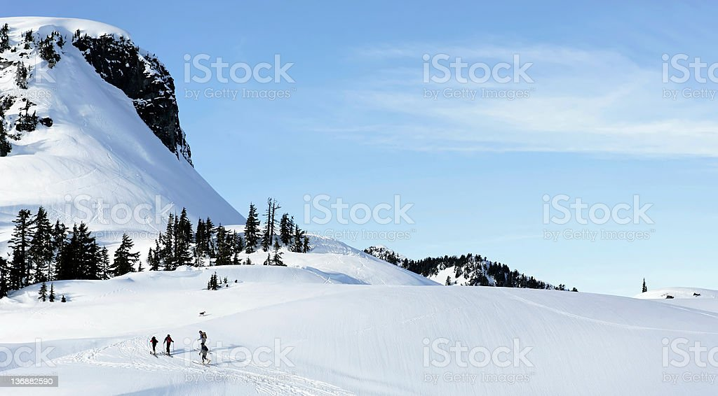 back country skiing adventure royalty-free stock photo
