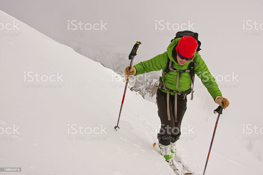 Back Country Skiing stock photo