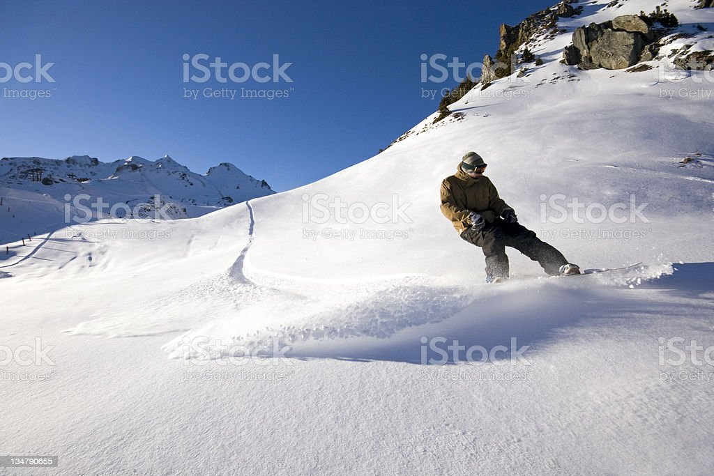 Back Country Snowboarder royalty-free stock photo