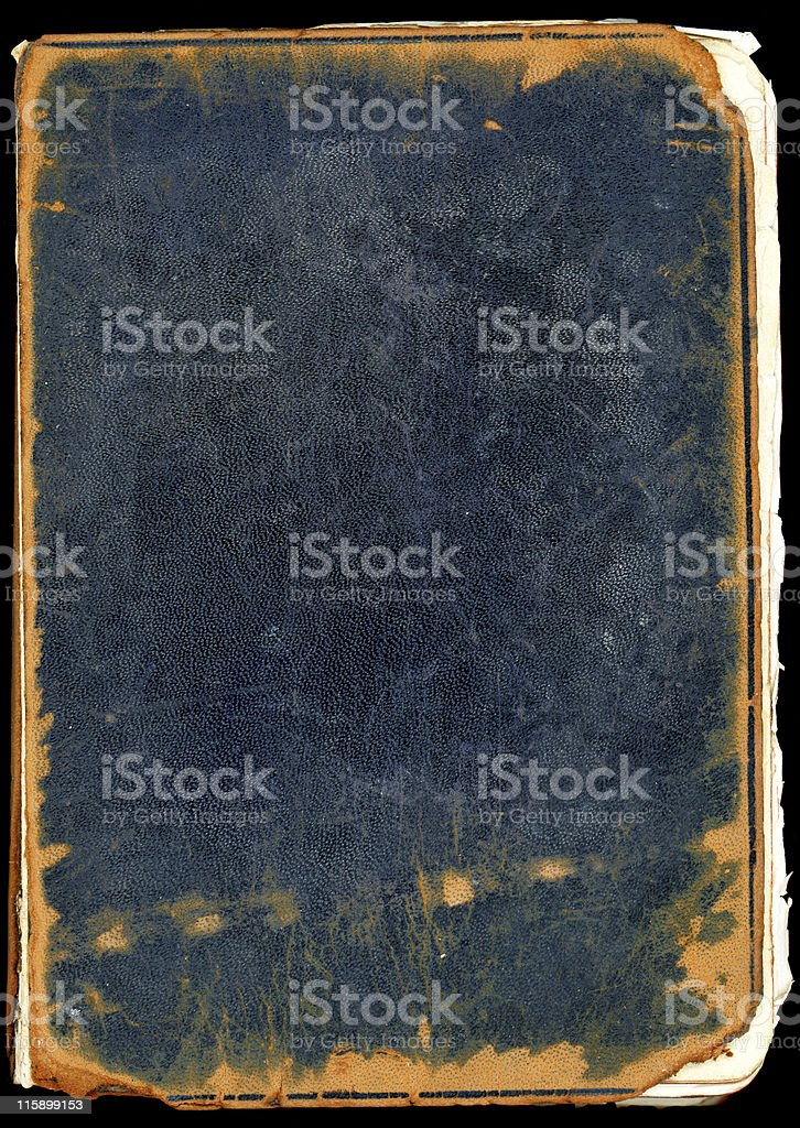 Back cover of an old bible stock photo