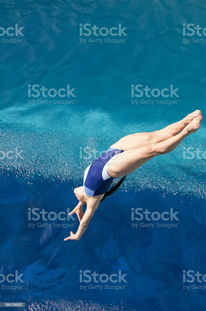 Back dive stock photo