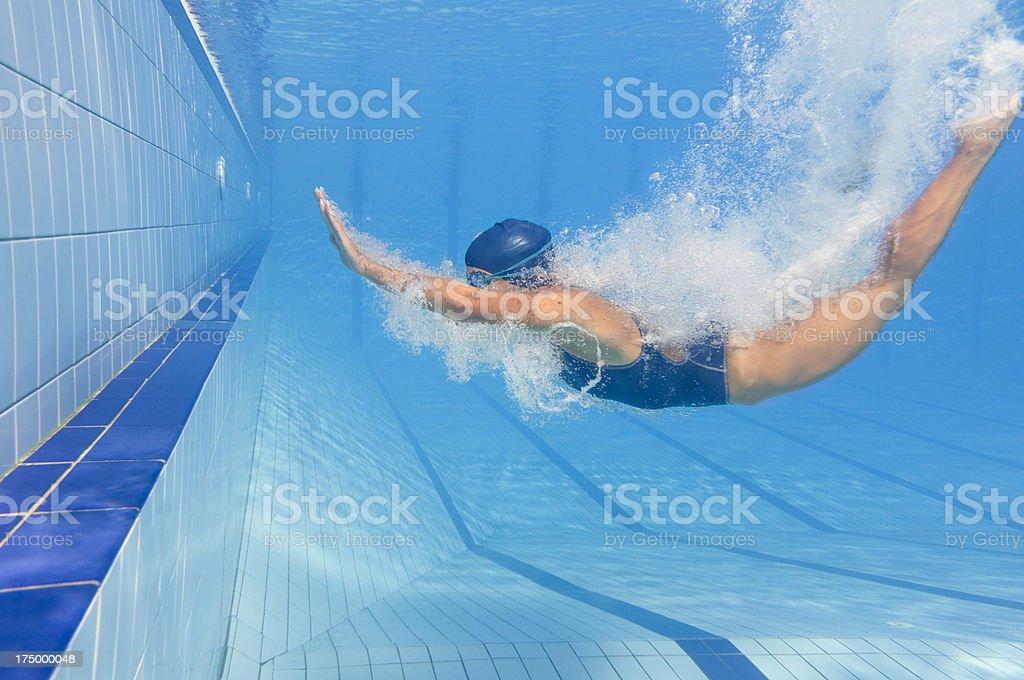 Back dive splash stock photo