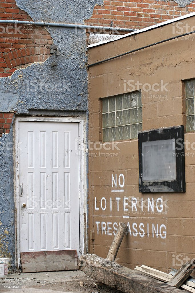 back door royalty-free stock photo