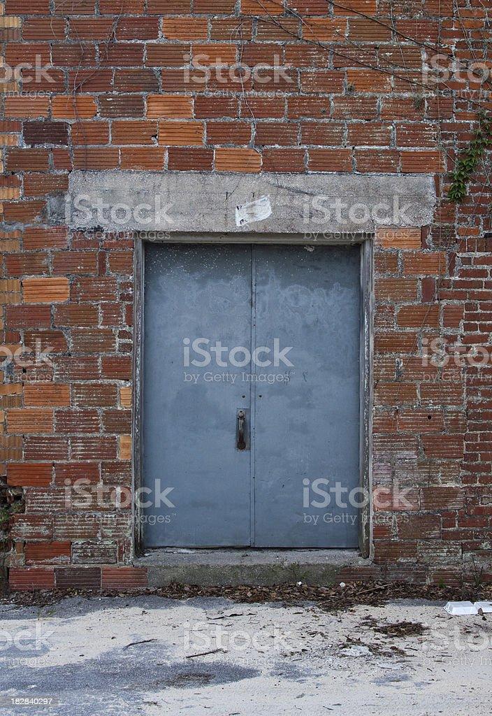 Back Entrance Door stock photo
