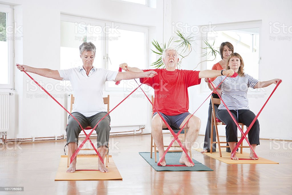 Back Exercise Group stock photo