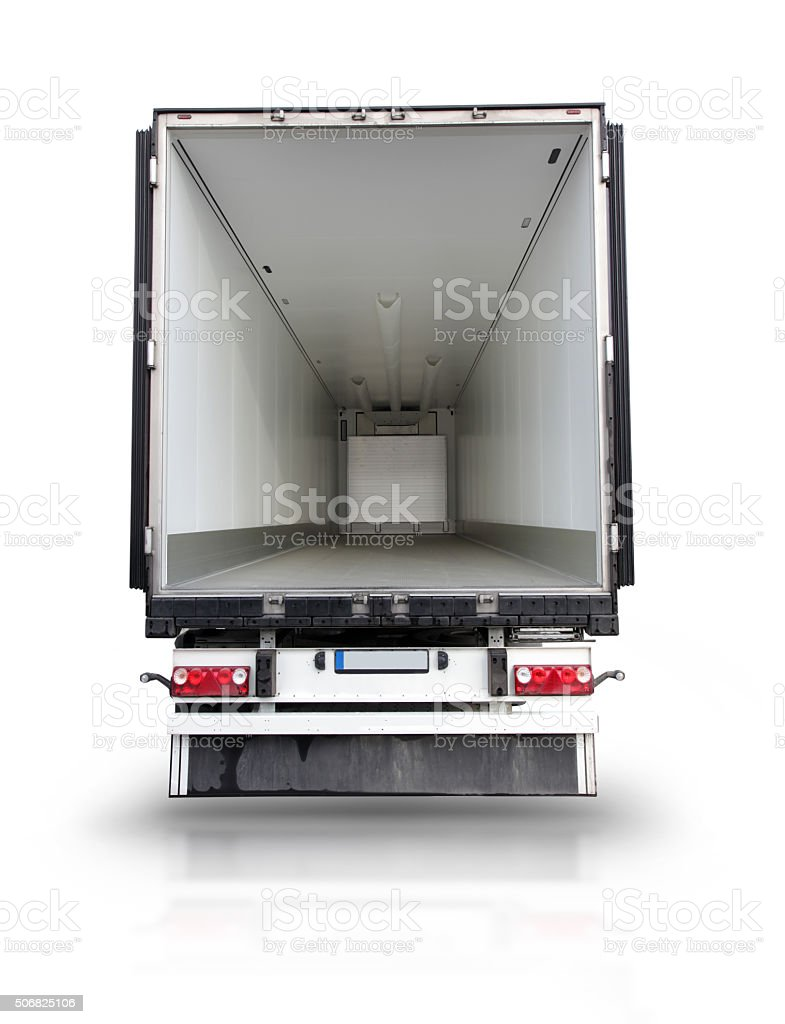 Back Face Open Big Truck stock photo