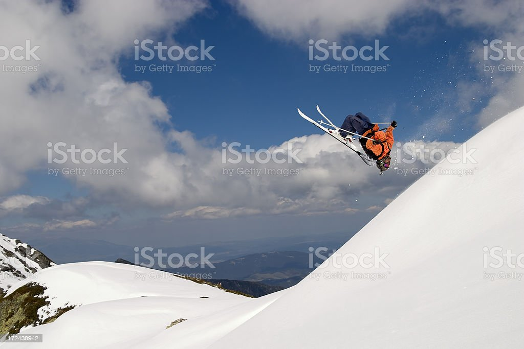 Back flip royalty-free stock photo