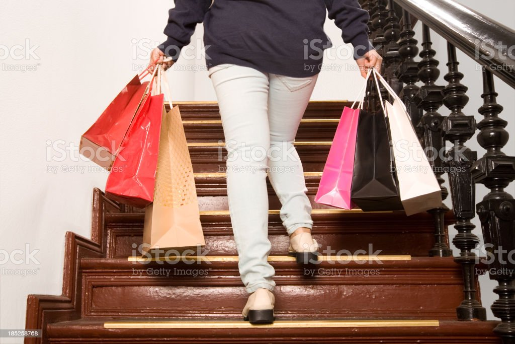 Back from shopping stock photo