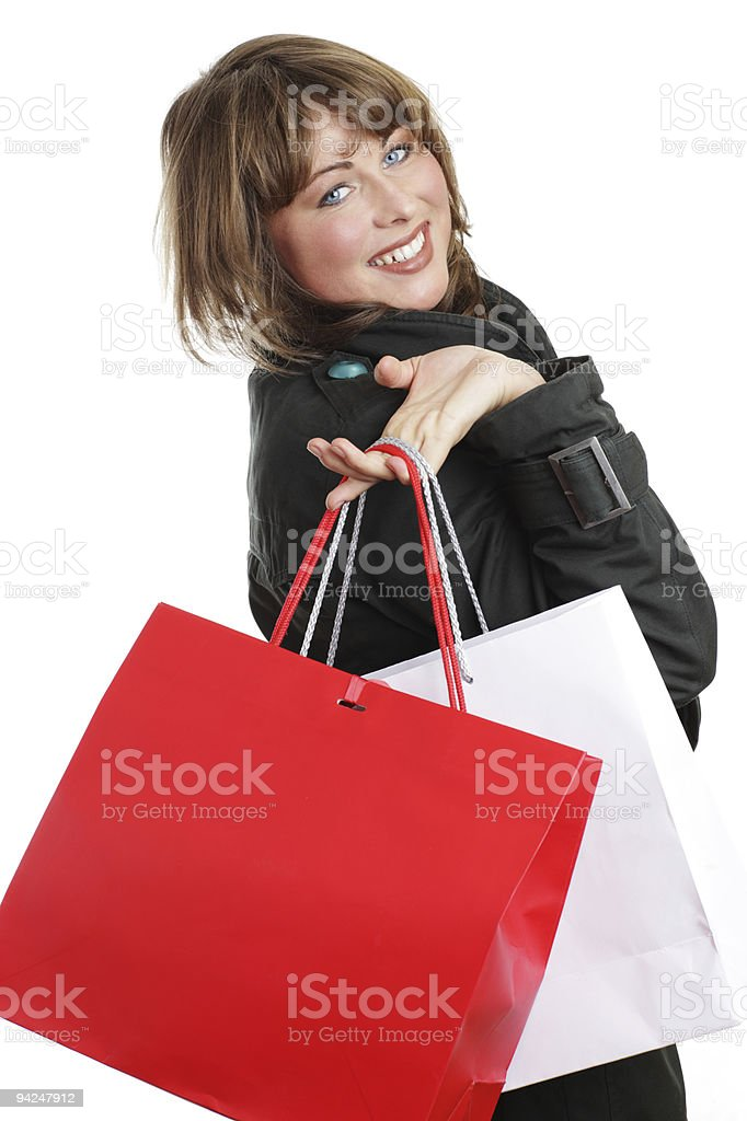 Back from shopping royalty-free stock photo