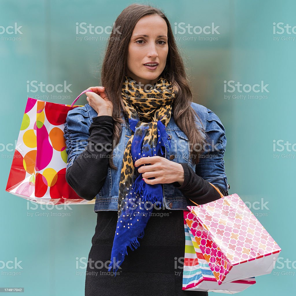 Back from the store royalty-free stock photo