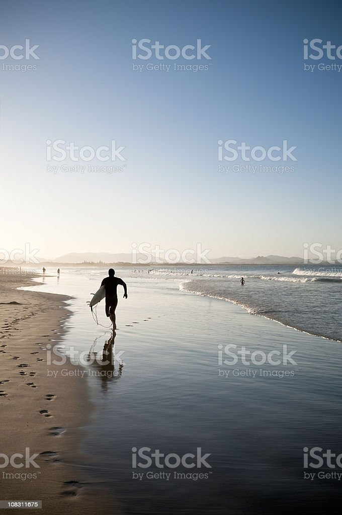Back From The Surf royalty-free stock photo