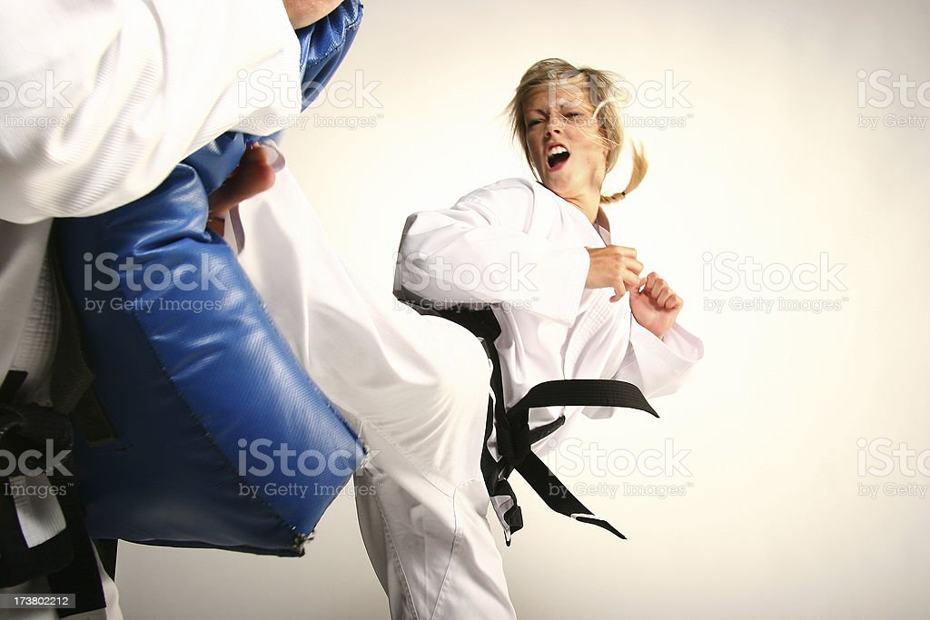 Back kick royalty-free stock photo