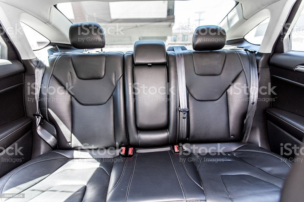 Back leather seat of a car stock photo