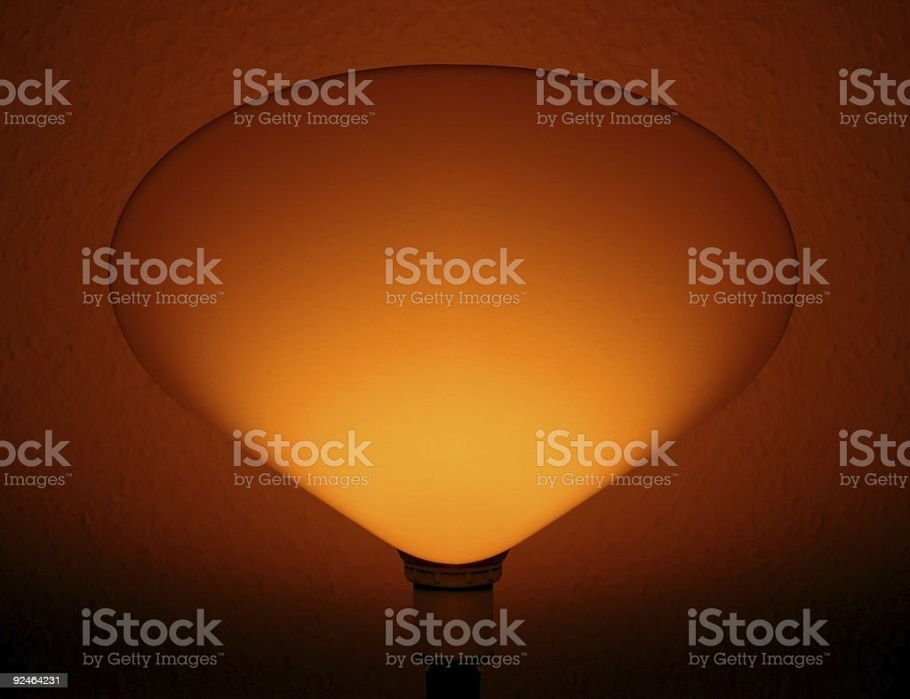 Back light effect of a bedroom lamp royalty-free stock photo