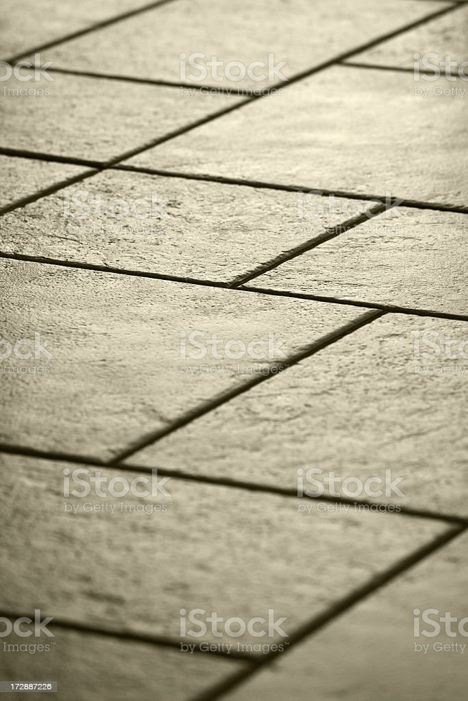 Back lit detail of floor with ceramic tiles,  shallow DOF royalty-free stock photo