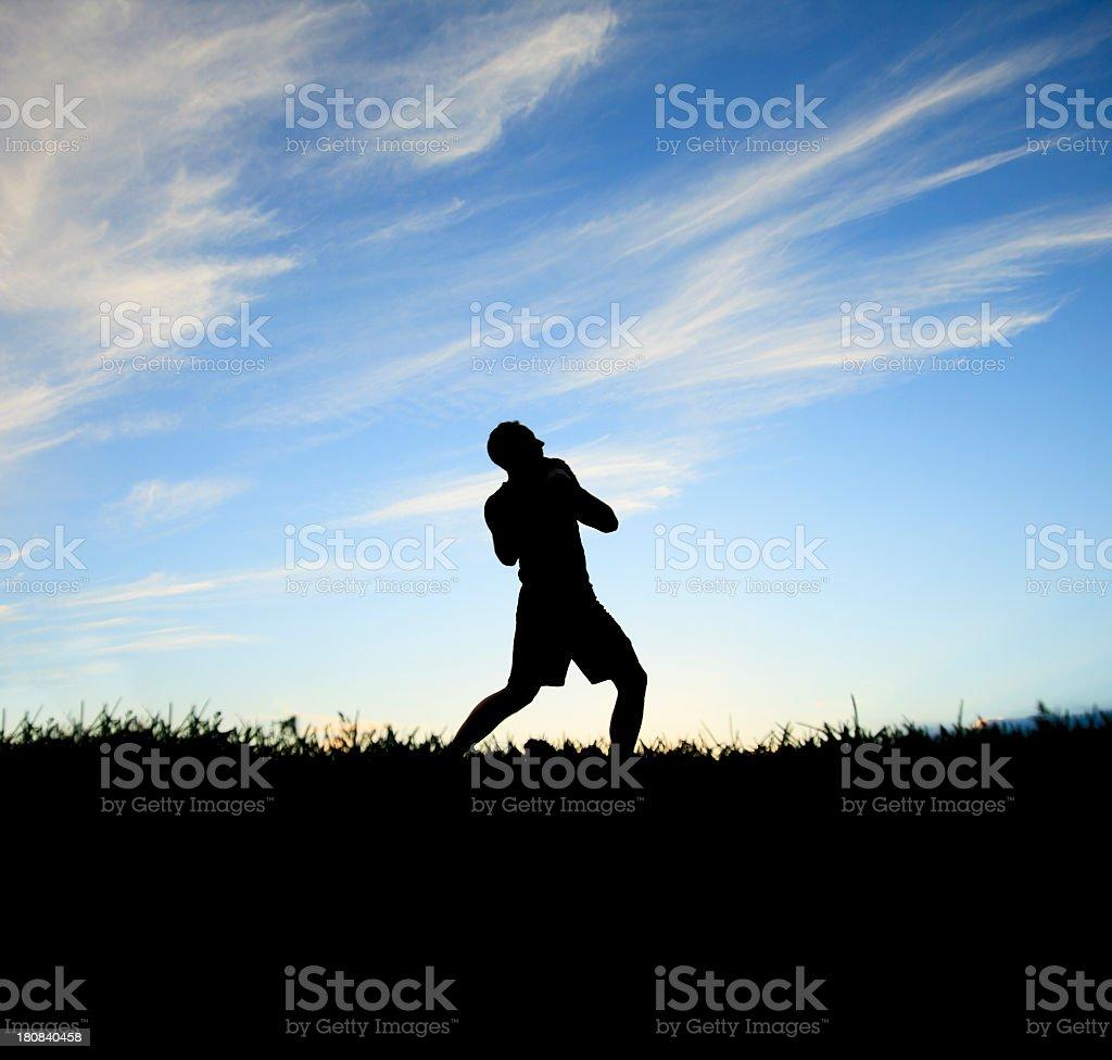 Back Lit - Football Athlete royalty-free stock photo