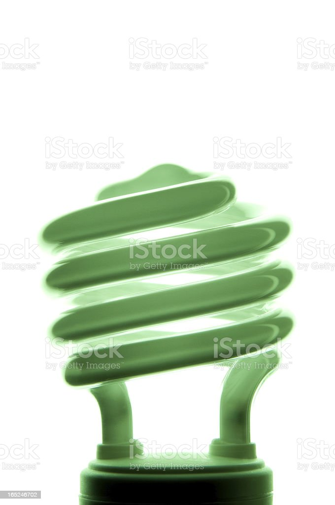 Back Lit Green Florescent bulb royalty-free stock photo