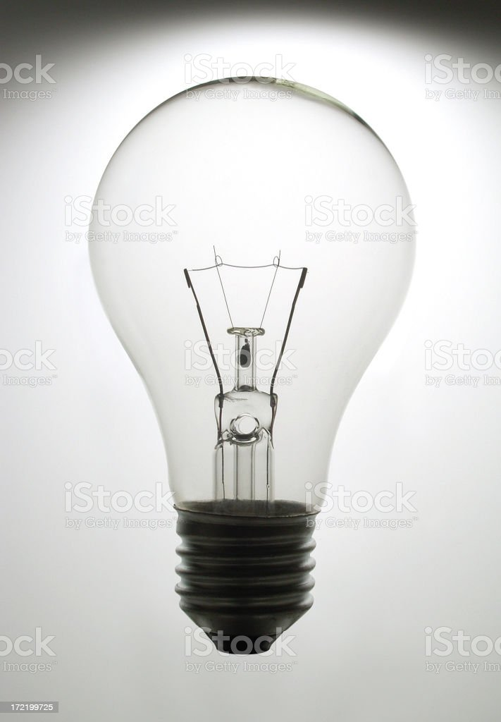 Back Lit Light Bulb royalty-free stock photo