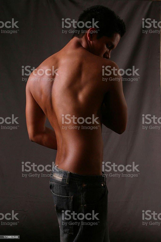 Back - Male Torso royalty-free stock photo
