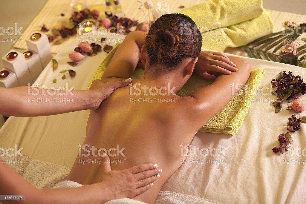 Back massage. royalty-free stock photo