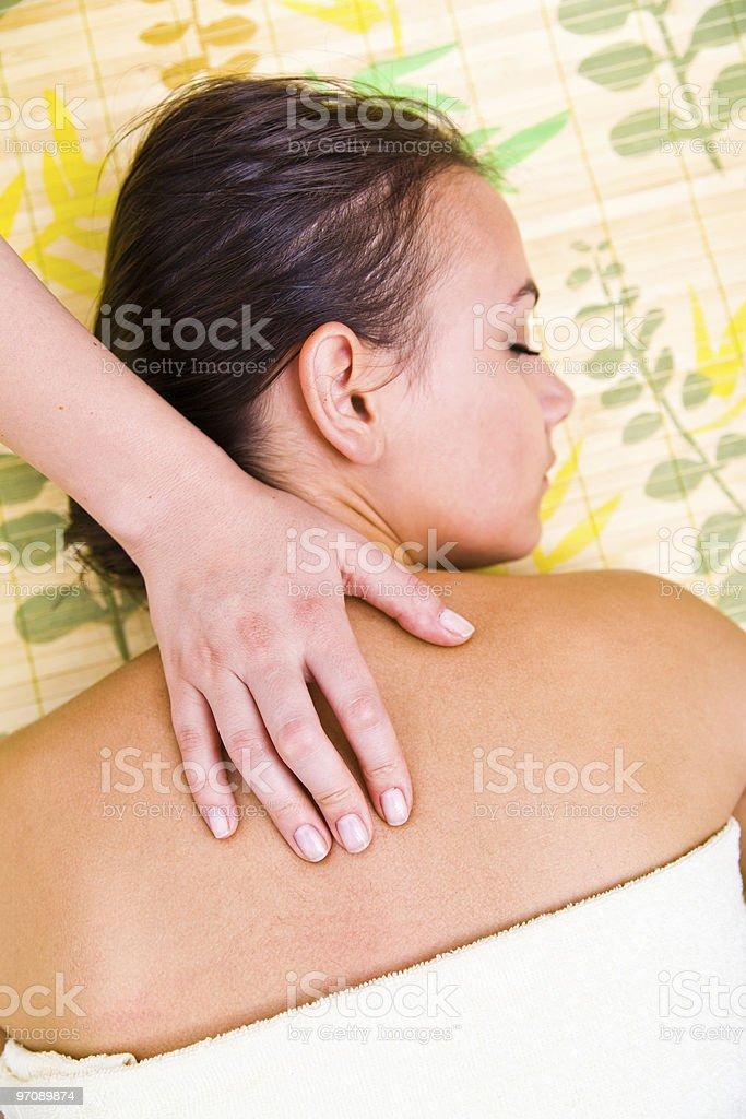 Back massage royalty-free stock photo