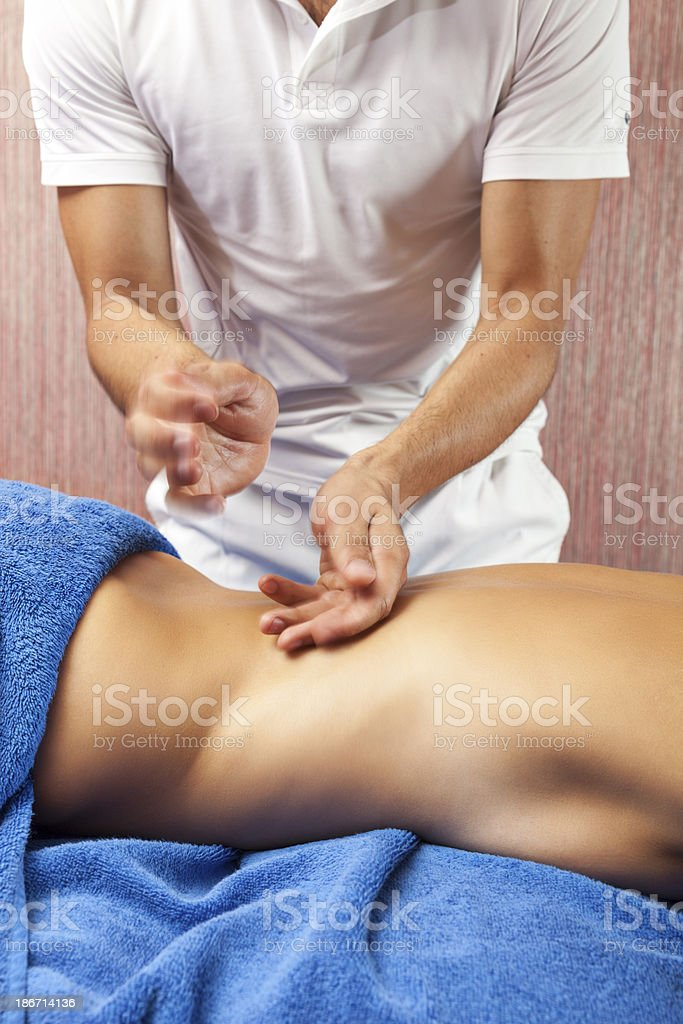 Back Massage Treatment royalty-free stock photo