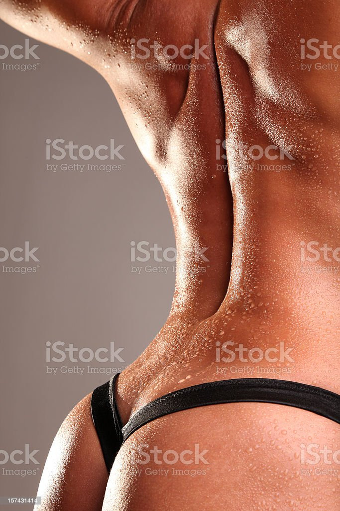 Back Muscles Looking so Beautiful and Sexy Wet royalty-free stock photo