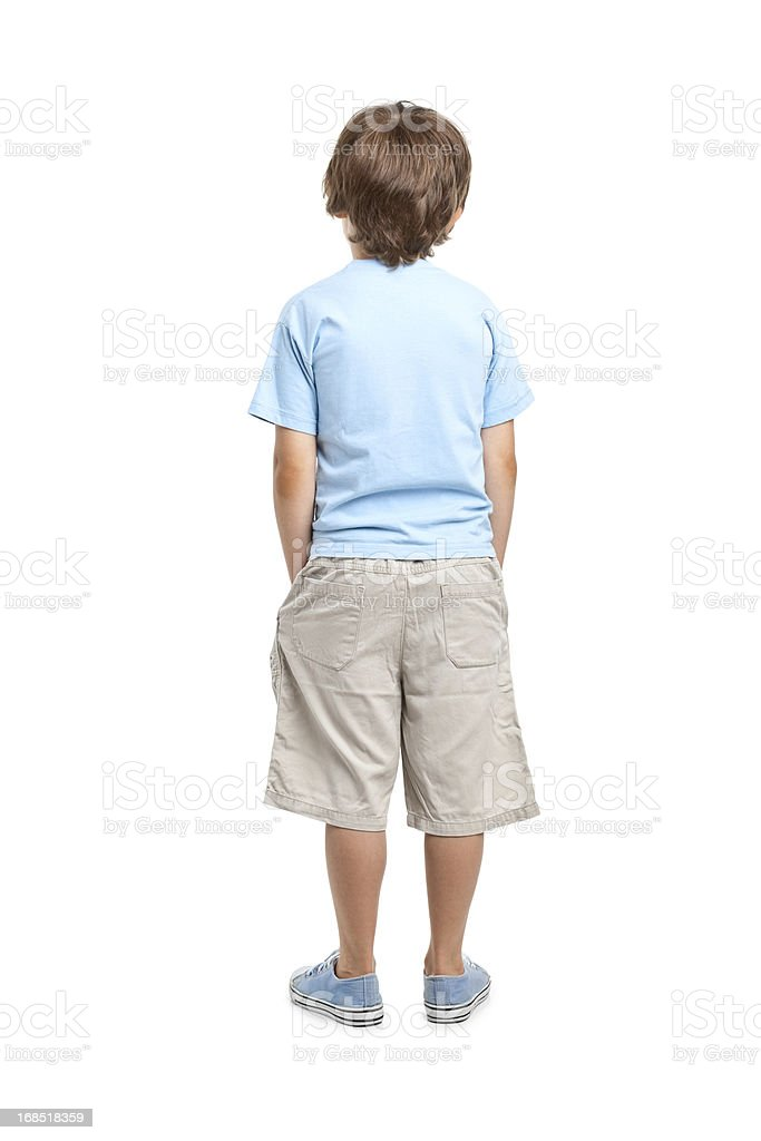 back of 8 years old boy royalty-free stock photo