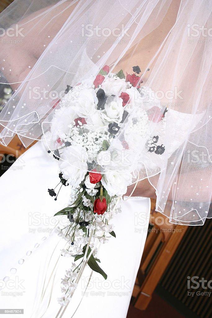 Back of a beautiful wedding dress royalty-free stock photo