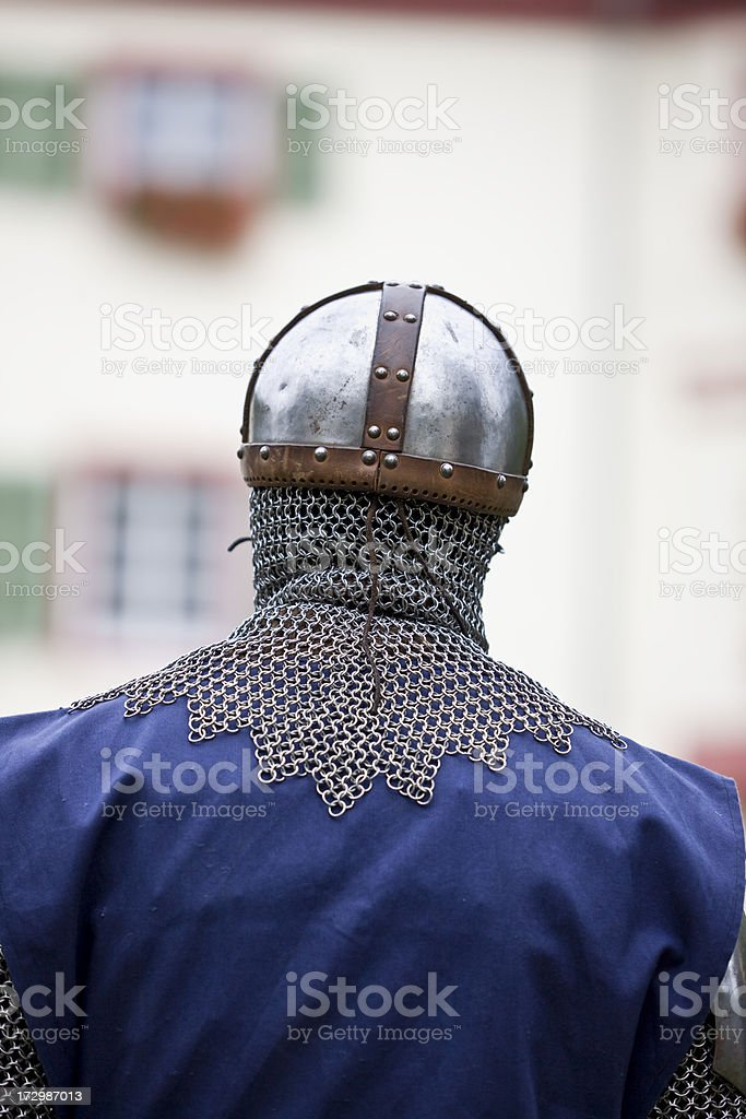 Back of a knight stock photo