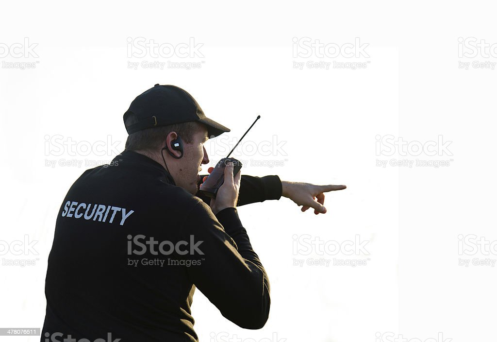 back of a security guard royalty-free stock photo