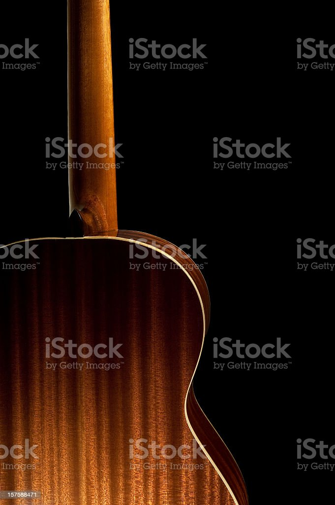 Back Of A Spanish Guitar stock photo