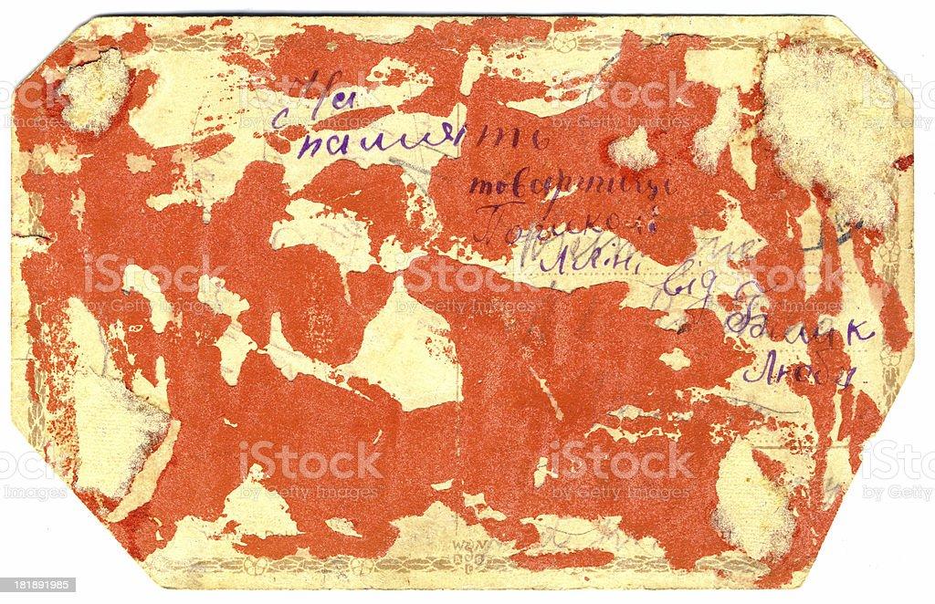 Rückseite eine sehr alte Karte Lizenzfreies stock-foto