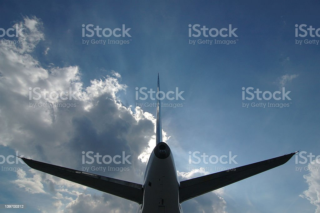 Back of an aircraft royalty-free stock photo