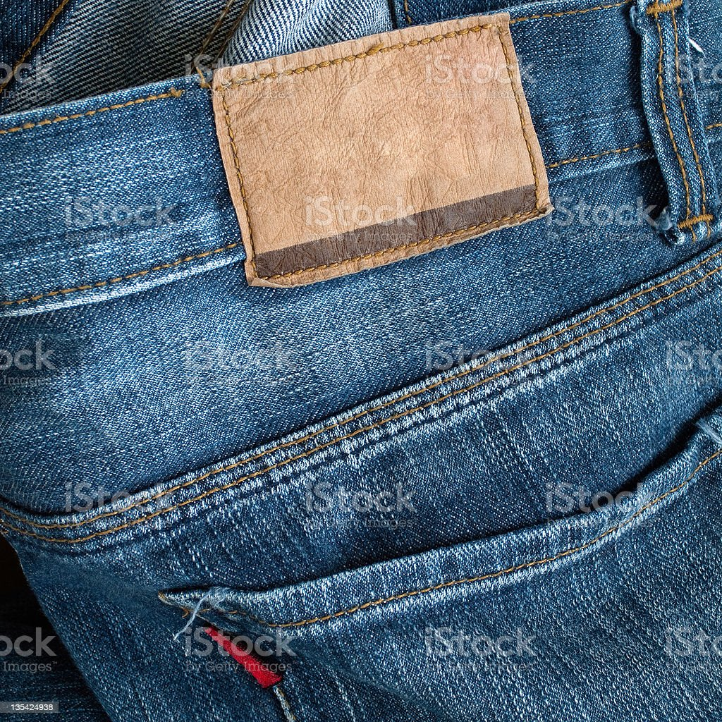 Back of blue jeans royalty-free stock photo