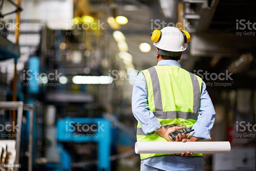 Back of foreman stock photo