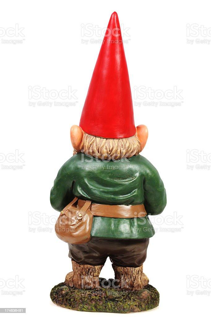 Back of Garden Gnome stock photo
