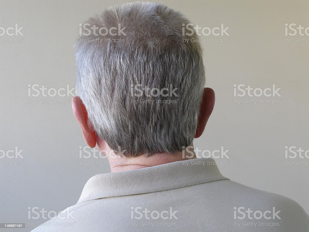 Back of Head stock photo