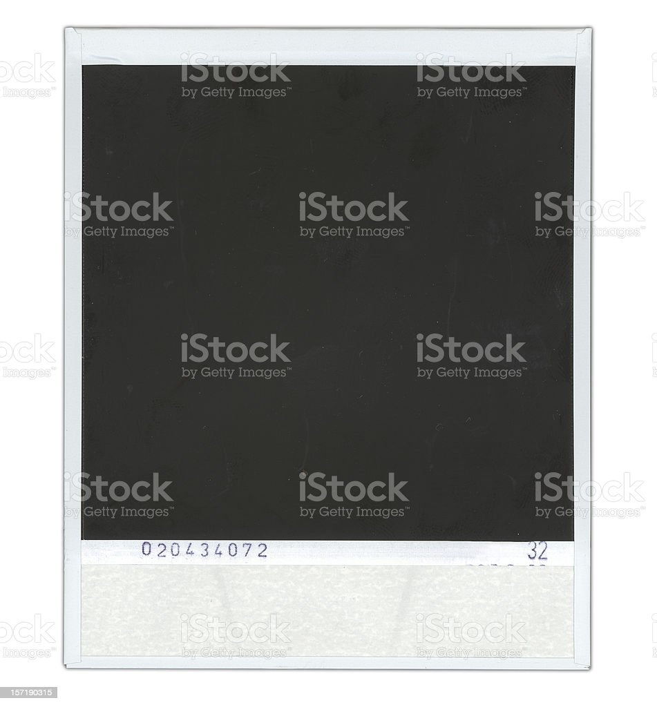 Back of instant print royalty-free stock photo