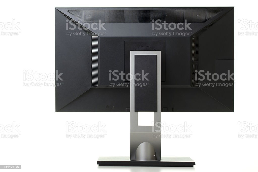 Back of Lcd Monitor with Clipping Path royalty-free stock photo